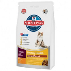 Hill's Science Plan Feline Adult Urinary Health Hairball Control in crocchette