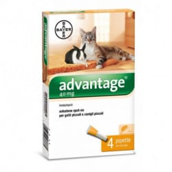 Bayer Advantage Spot-on antiparassitario per gatti e conigli